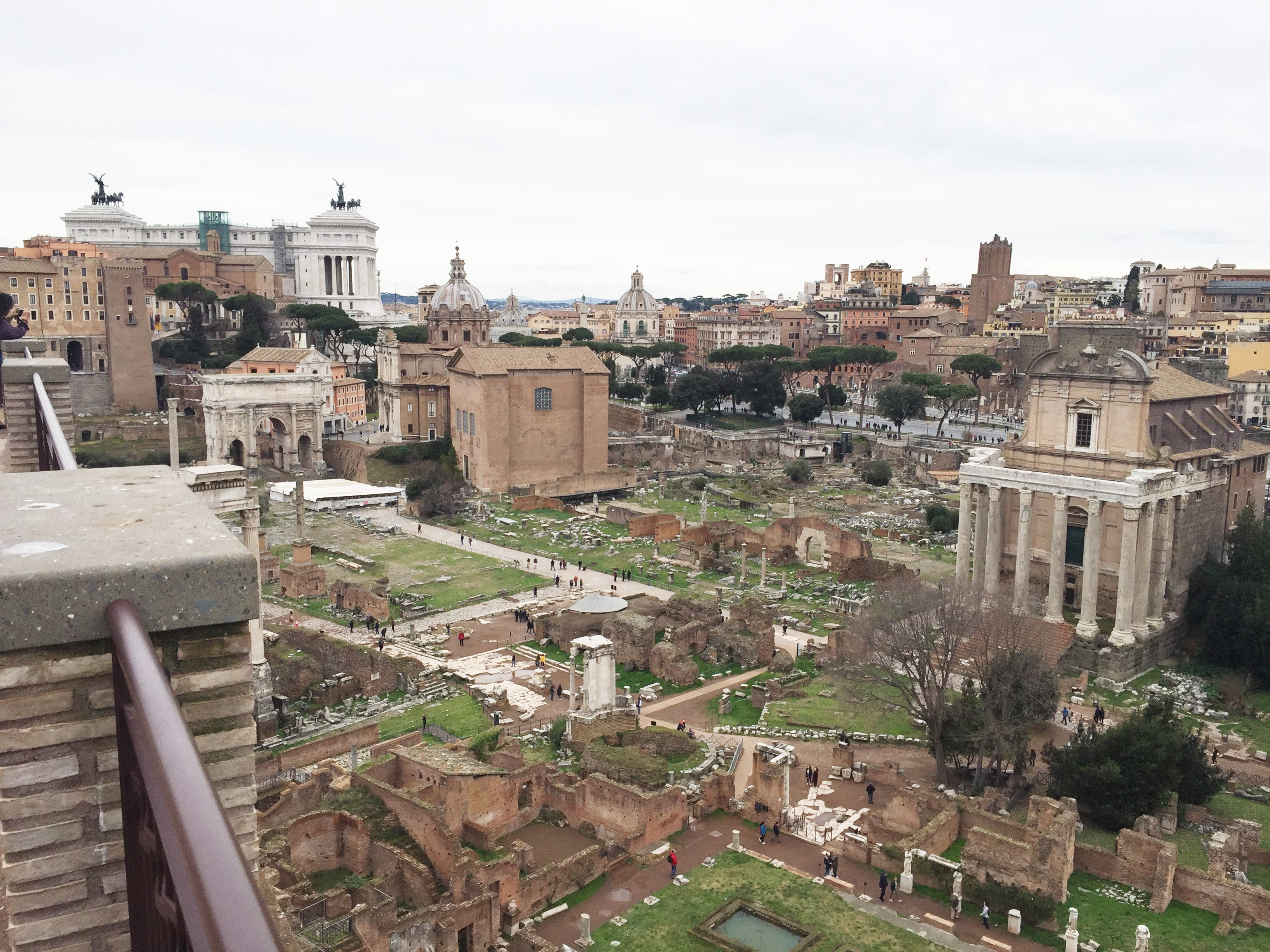 Fórum Romano visto do topo